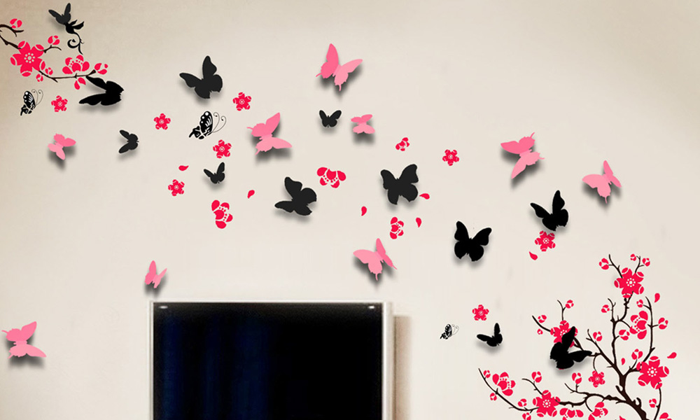 get free 3d butterfly wall stickers free samples australia personalised childs name butterfly wall sticker wall