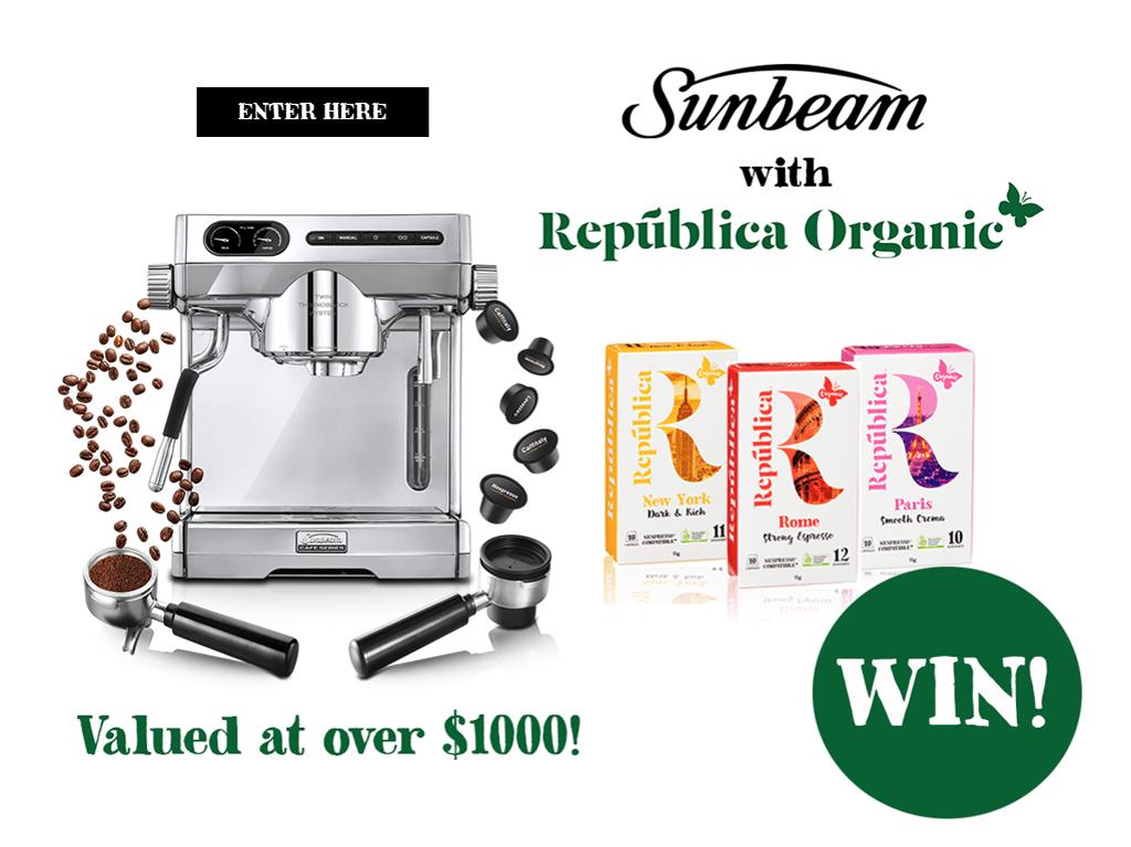 WIN a Sunbeam Espresso Machine plus Coffee Capsules & Beans Worth USD 1,050!! - Free Samples Australia