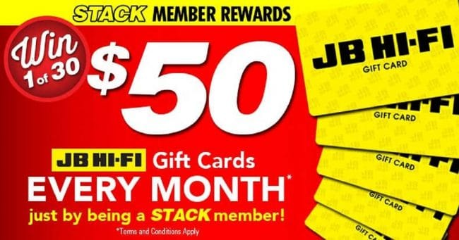 Win 1 of 30 x $50 JB Hi-Fi Gift Cards