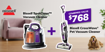 Win 2 Bissell Vacuums (Crosswave + Spot Clean)