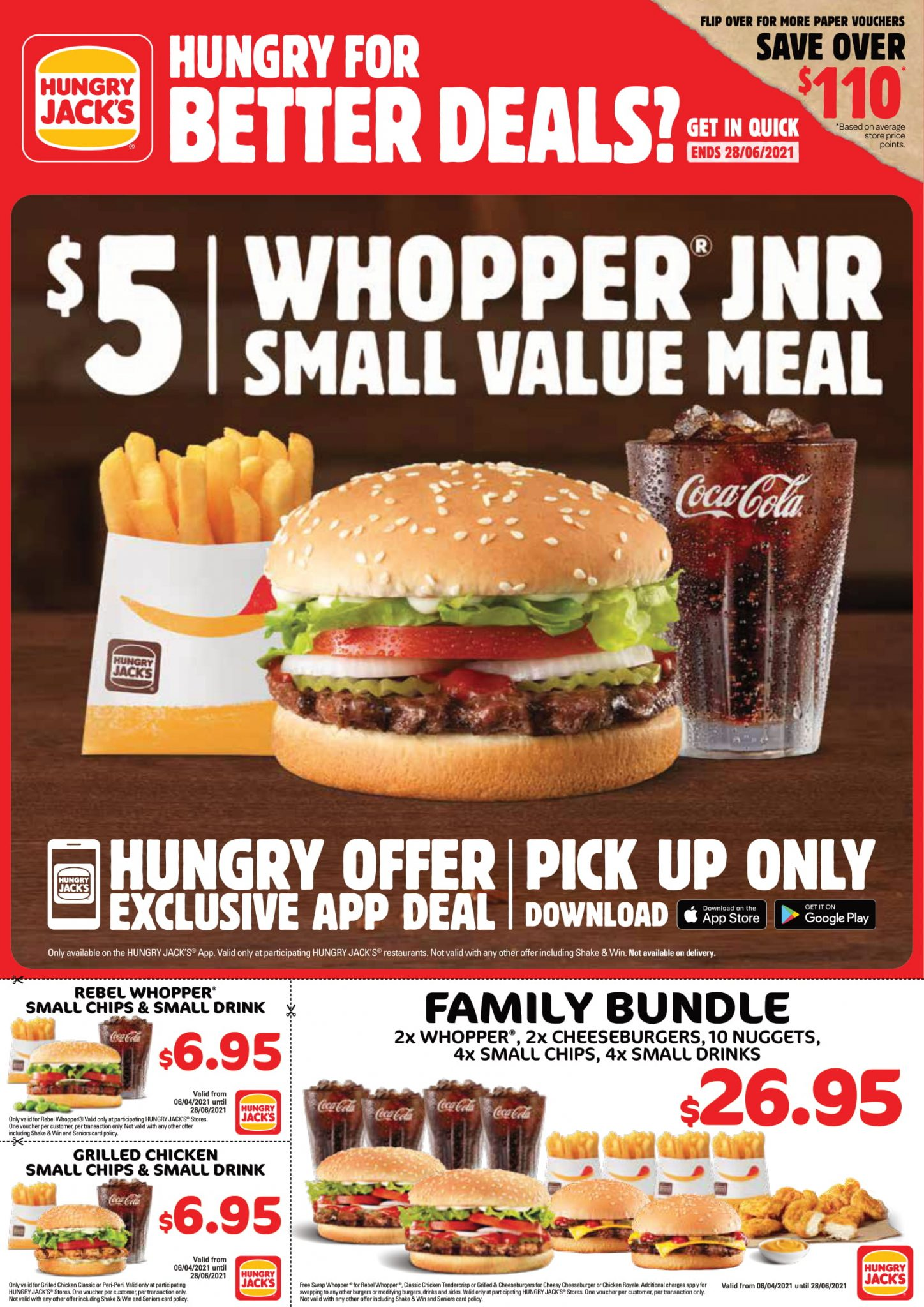 Hungry Jacks Vouchers & Deals → May 2021