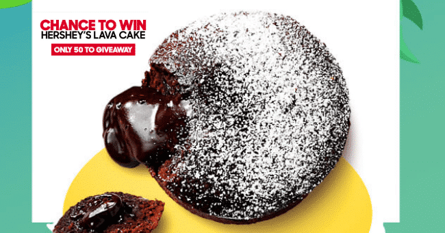 Win 1 of 50 Hershey's Lava Cake
