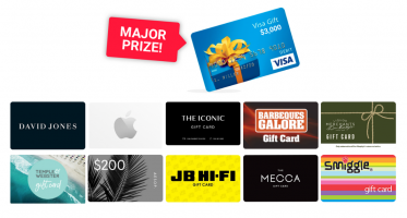 Win a $3000 Visa gift card & 10 x $200 vouchers from Australia's favourite retailers