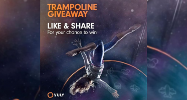 Win a Vuly Medium Flare Trampoline with Shade Cover