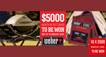 WIN one of 10 x $500 gift cards from Weber