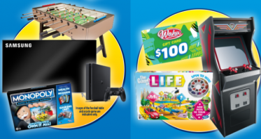 Win $136,260 worth of prizes (Samsung TV, Playstation 4, Arcade Game Machines...)