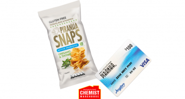 Win 3 VISA Gift Cards & PIRANHA Snaps Snacks