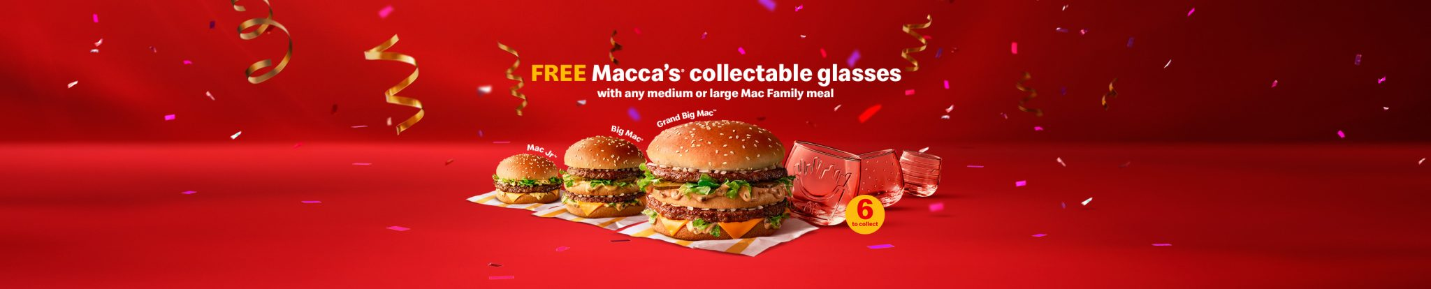 Free Glass with Medium or Large Mac Family Meal