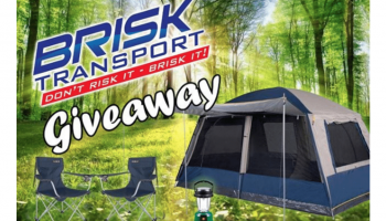Win a Camping Package with 8P Tent, 2 Sleeping bags, 2 Chairs & Battery Lantern