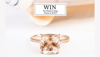 Win a 9ct Gold, Morganite & Diamond Madison Ring