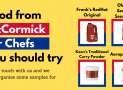 Samples of McCormick For Chefs Food