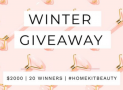 Win 1 of 20 x $100 Home Kit Beauty Vouchers
