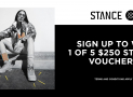 Win 1 of 5 x $250 Stance Socks Vouchers