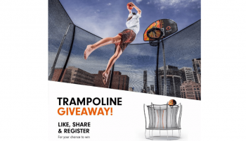 Win a Medium Trampoline & Basketball Set