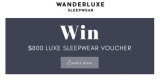 WIN an $800 Wanderluxe Sleepwear Voucher